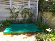 Lovely bespoke protector for the Sand pit